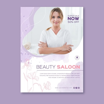 Beauty saloon poster template