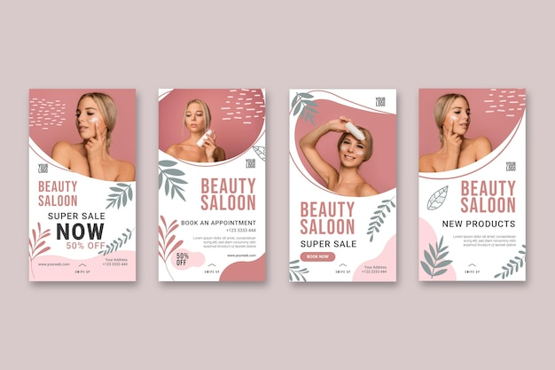 Beauty saloon stories concept