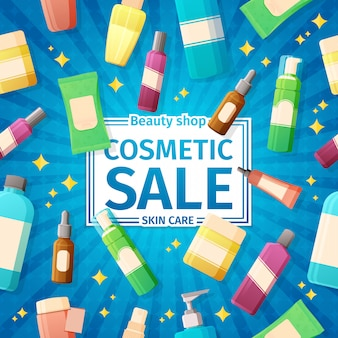 Beauty shop cosmetic sale banner