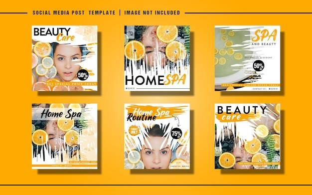 Набор шаблонов постов или флаеров для красоты в социальных сетях