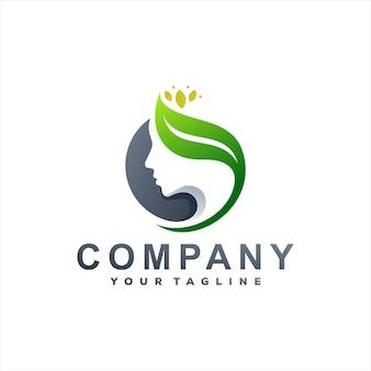 Салон красоты спа градиент дизайн логотипа