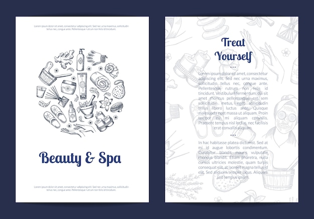 Beauty and spa informational flyer template