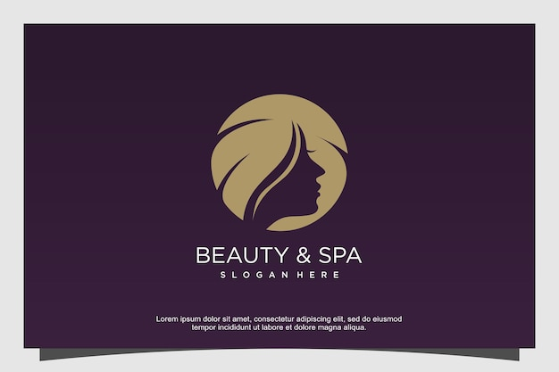 Beauty and spa logo concept premium vector