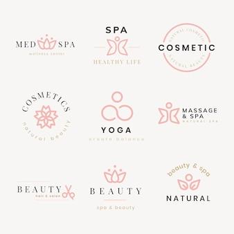 Beauty spa logo, creative modern design vector set