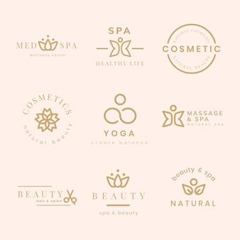Logo della spa di bellezza, set di vettori dal design moderno e creativo