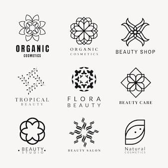 Шаблон логотипа спа красоты, профессиональный дизайн для здоровья и хорошего самочувствия бизнес векторный набор
