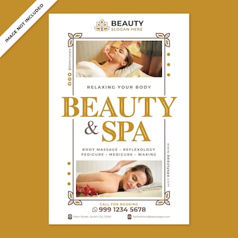 Beauty spa poster promotion in flat design style