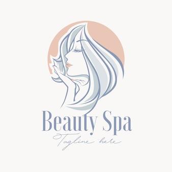 美容スパトリートメントのロゴのテンプレート