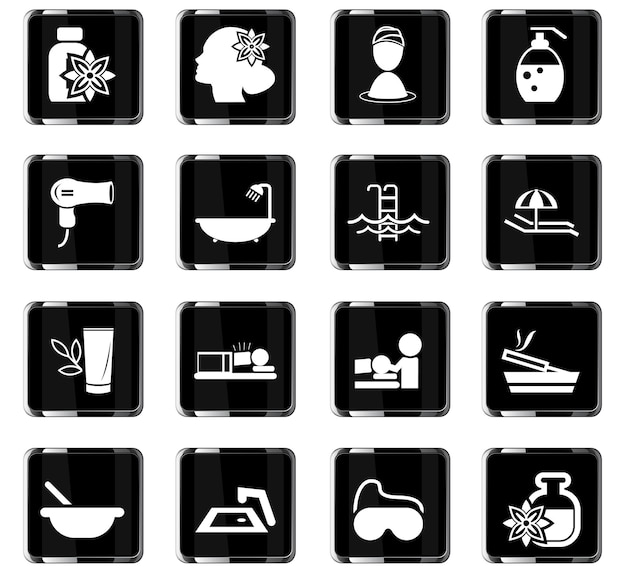 Beauty and spa vector icons for user interface design