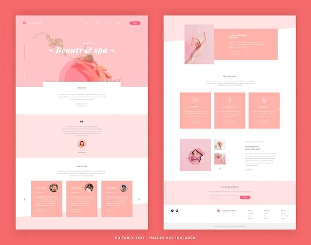Beauty and spa web header templates