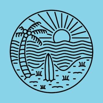 Beauty summer and sunset graphic illustration vector art t-shirt design