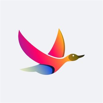 아름다움 백조 비행 로고 디자인