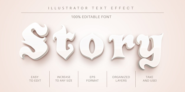 Beauty text effect font style