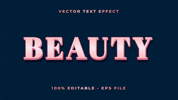 Текстовый эффект красоты