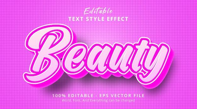 Красота текста на розовом эффекте стиля градиента, редактируемый текстовый эффект