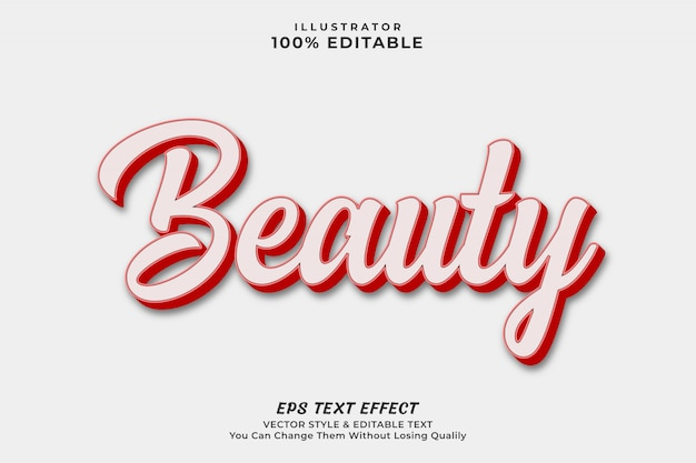 Beauty text style effect
