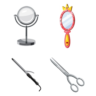 Beauty tool elements set. cartoon set of beauty tool