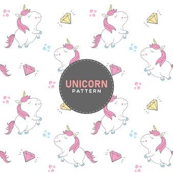 Beauty unicorn seamless pattern