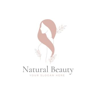 Beauty vintage floral women logo design