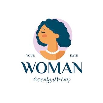 Логотип бутика красоты женщина