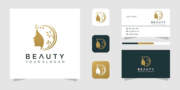 Beauty woman hair salon logo design