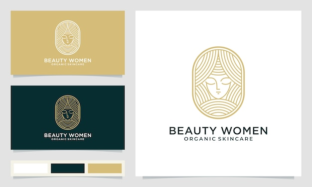 Beauty woman logo design inspiration for skin care, salons and spas and other beauty products