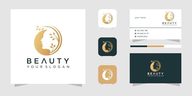 Beauty woman logo design template