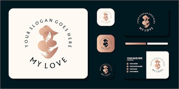 Красота женщины логотип мечта и ссылка на визитную карточку