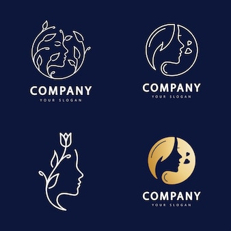 Beauty woman logo for your business salon  skin care and spa