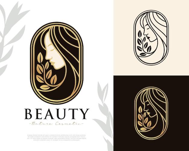 Beauty women feminine logo template
