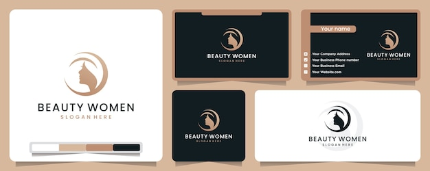 Beauty women logo illustration