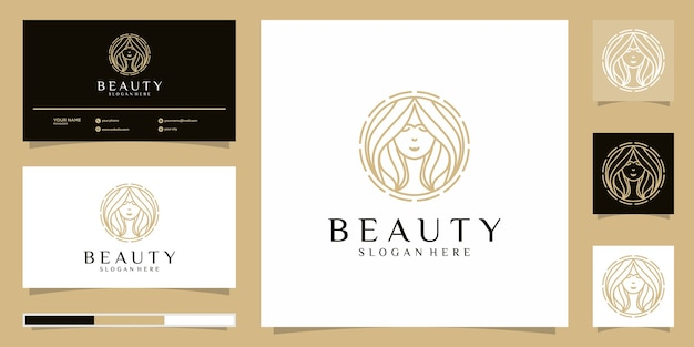 Beauty women logo  . logo design and business card
