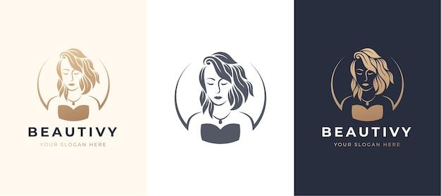 뷰티 여성 로고