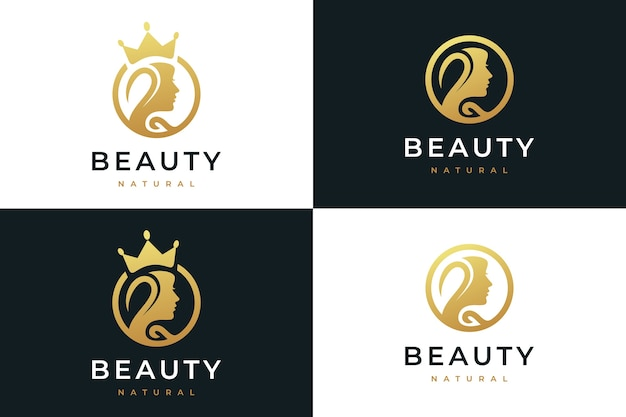 Beauty women,natural spa, cosmetic, logo design inspiration