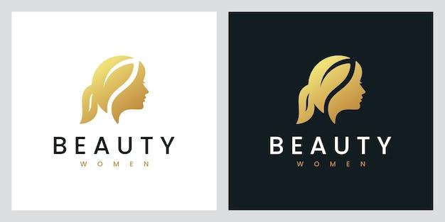 Beauty women,natural spa, cosmetic, logo design inspiration
