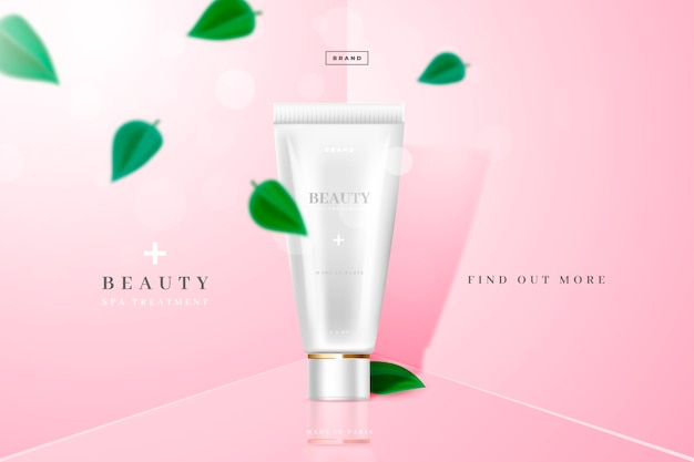 Beauty and youth cosmetic product ad