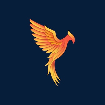 Beautyful strong phoenix vector