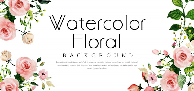 Beautyful watercolor floral background