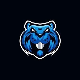 Дизайн логотипа бобра
