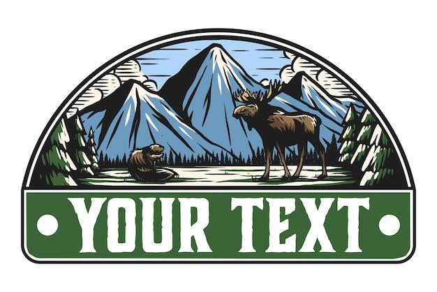 Beaver and moose badge