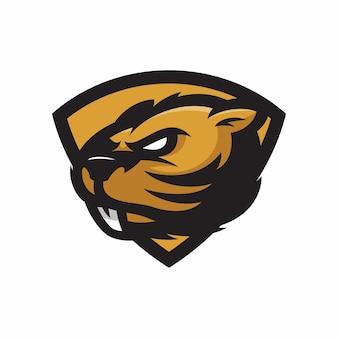 Beaver - vector logo/icon illustration mascot