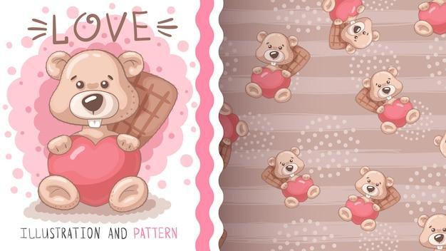 비버 재치 심장 원활한 패턴