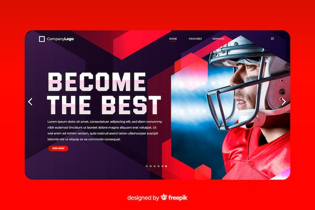 Become the best sport landing page