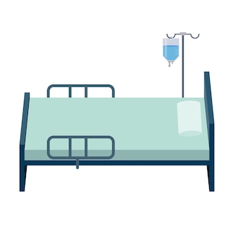 Bed in the hospital room