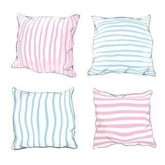 Bed pillow set