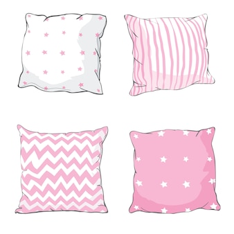 Bed pillows set