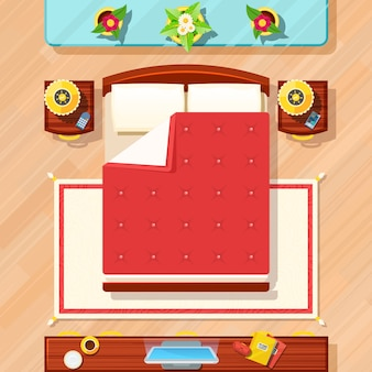 Bedroom design illustration