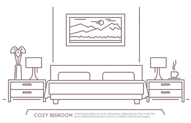 План мебели для спальни