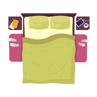 Bedroom furnitures illustration