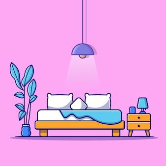 Illustrazione della camera da letto